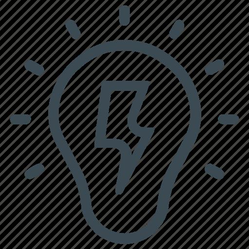 bulb, creativity, idea, light, solution icon