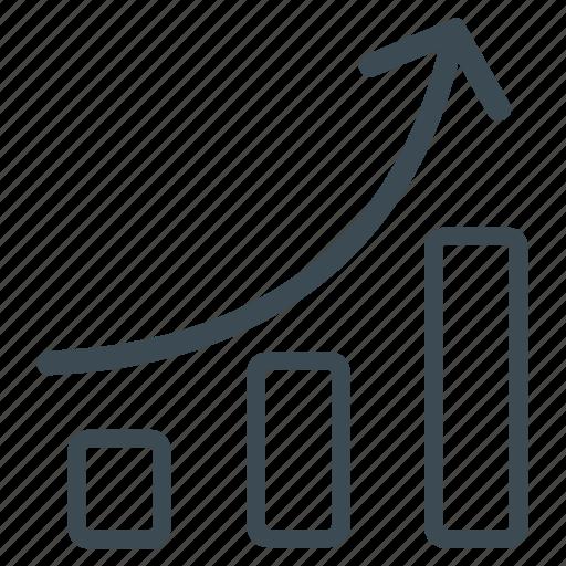 analytics, growth, line graph, statistics icon