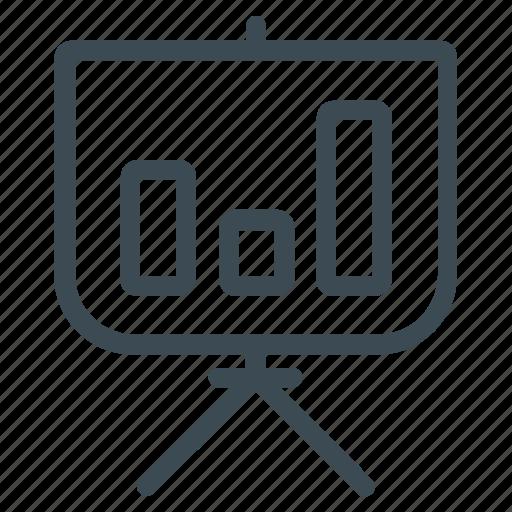 bar chart, blackboard, presentation icon