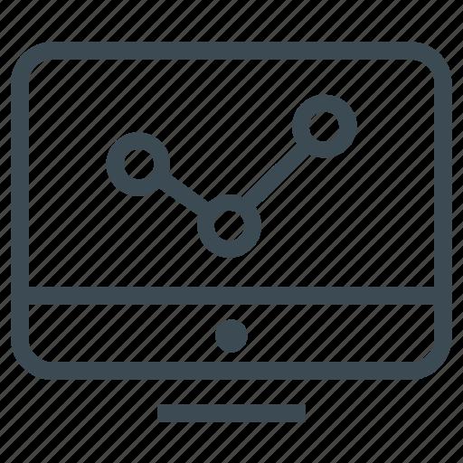 analysis, analytics, business, diagram, monitor, traffic icon