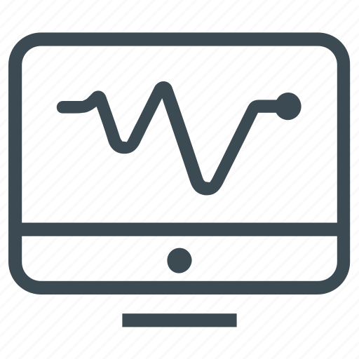 analysis, business, line graph, monitor, report icon