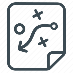 clipboard, plan, planning, strategy, tactice, way icon