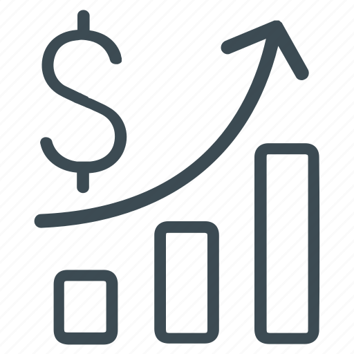 business, business report, financial, financial bar chart, profit, revenue, statistic icon