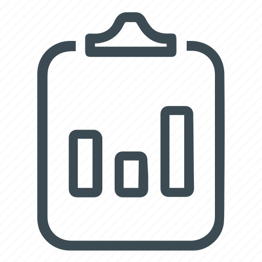 bar chart, report, statistics icon