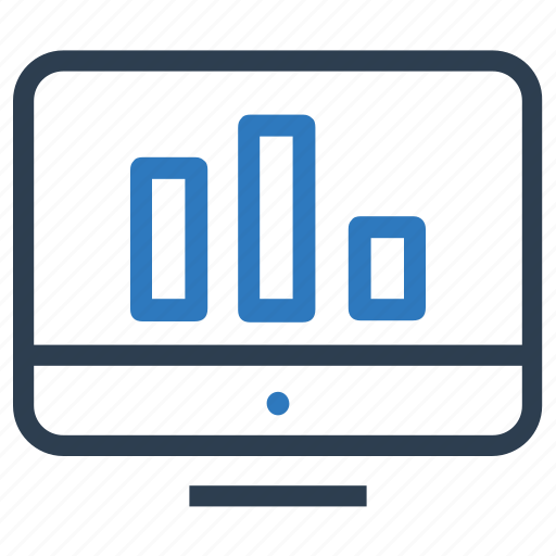 analytics, bar chart, chart, data, graph, monitor, statistics icon