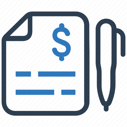 bill, invoice, receipt, statement icon
