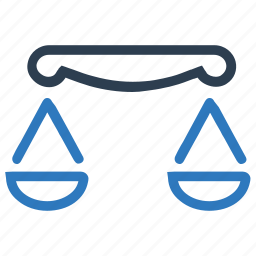 balance, court, justice, law, measure, measurement, scale icon