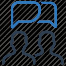 chat, conversation, group conversation, private conversation, talking icon