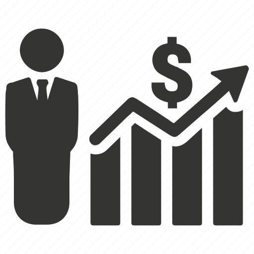 bar chart, business growth, financial report, profit icon