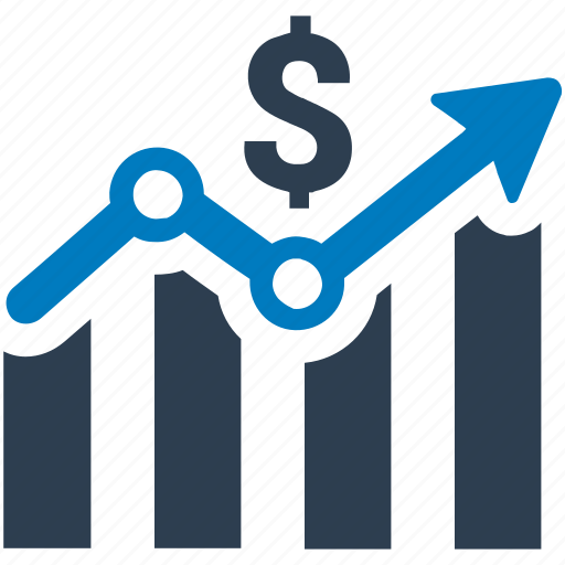business growth, financial report, profit icon