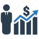 business analysis, business report, financial report icon