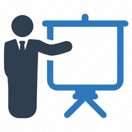 business presentation, lecture, training icon