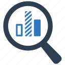 analysis, marketing research, search report icon