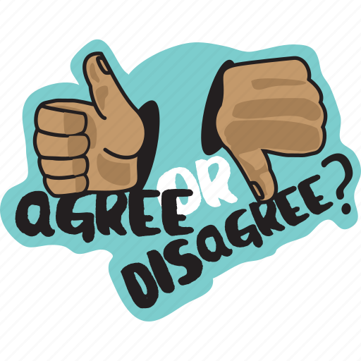 agree, business, disagree, hand, sign, thumb down, thumb up icon