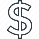 dollar, dollar currency, dollar sign, financial, money icon