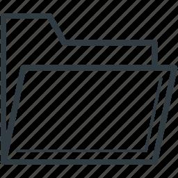 data folder, document, file, folder, paper folder icon