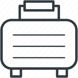 baggage, luggage, luggage bag, suitcase, travel bag icon