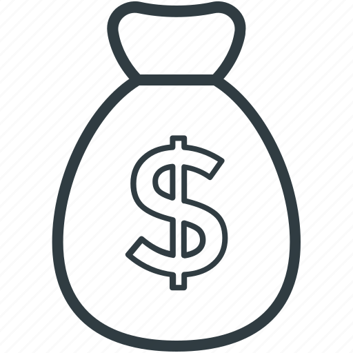 cash, cash bag, dollar sack, money sack, sack of money icon