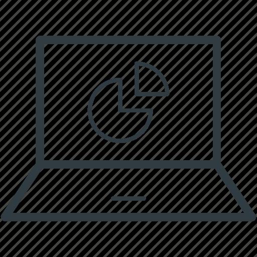 chart, diagram, graph, online pie chart, pie graph icon