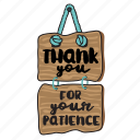 business, meeting, network, patience, sign, social, thank you icon