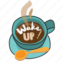 business, coffee, drink, morning, network, social, wake up icon
