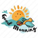 morning, network, social, sun, wake up icon