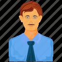 boy, business man, teenager icon
