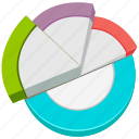 chart, graph, pie graph, report icon