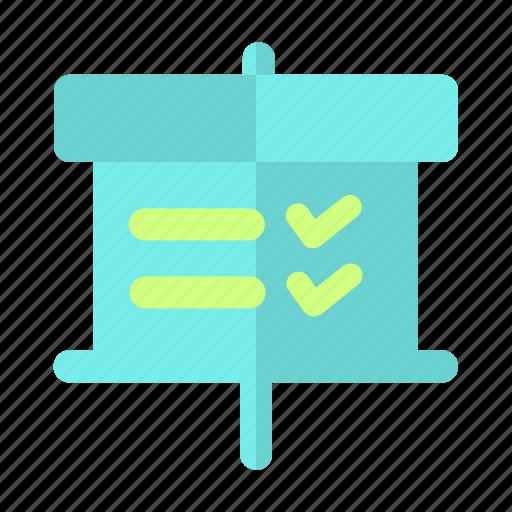 business, document, palnning, presentation, status, tasklist icon