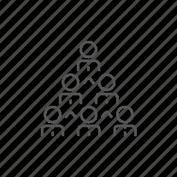 business, cooperation, leader, organization, partnership, people, pyramid icon