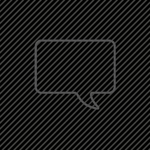 blank, dialog, discussion, empty, speech, square, talk icon