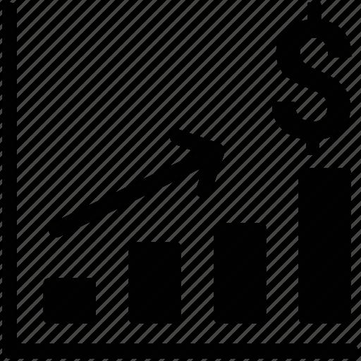 benefit, business, increasing, profit, progress chart icon