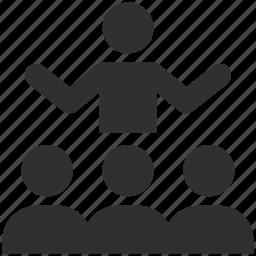 demo, instructions, instructor, presentation, public speech, speech, teacher icon