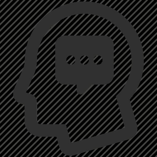 idea, monologue, planning, think, thinking icon