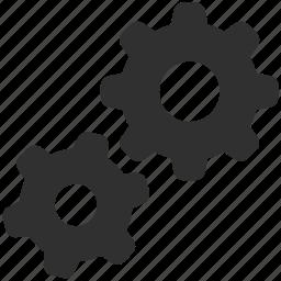 cog, cogs, cogwheel, gear, gears, settings icon