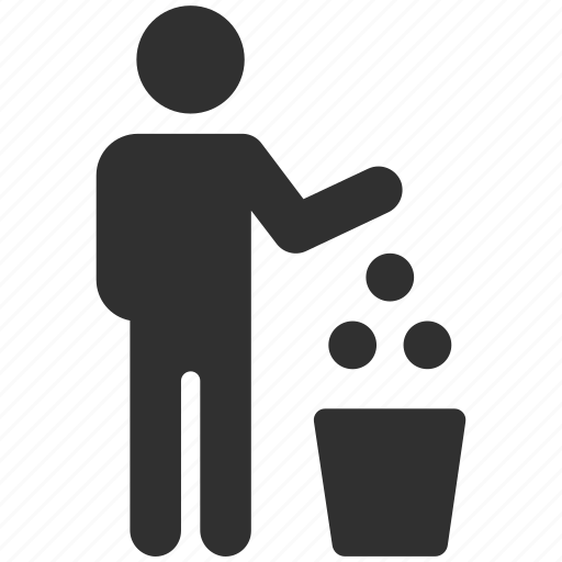garbage, throw away, trash, trash can, waste icon