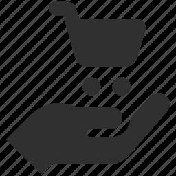 buy, buying, ecommerce, holding cart, purchase, shopping, shopping cart icon