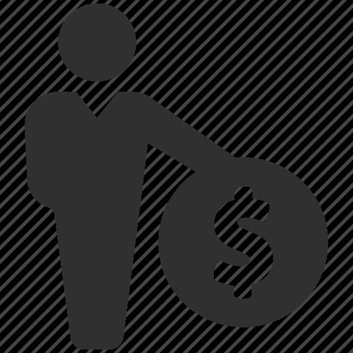 businessman, buyer, dollar, financial advisor, merchant, personal finance, seller icon