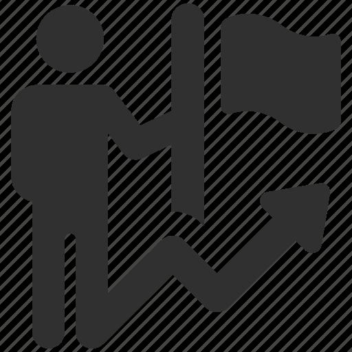achievement, business achievement, business goal, flag, flag goal, goal, strategy icon