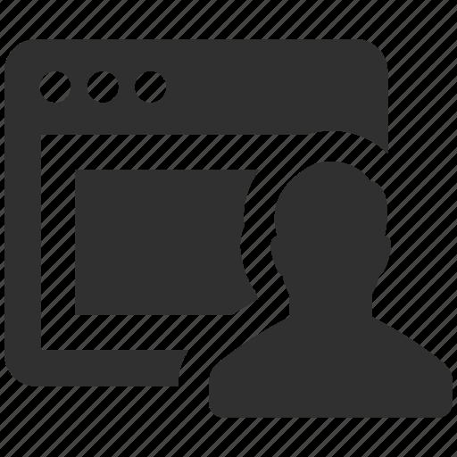 admin, computer user, internet user, user, web user, website user icon