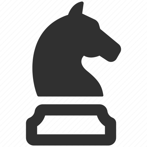 business strategy, chess, chess figure, chess knight, horse, knight, strategy icon