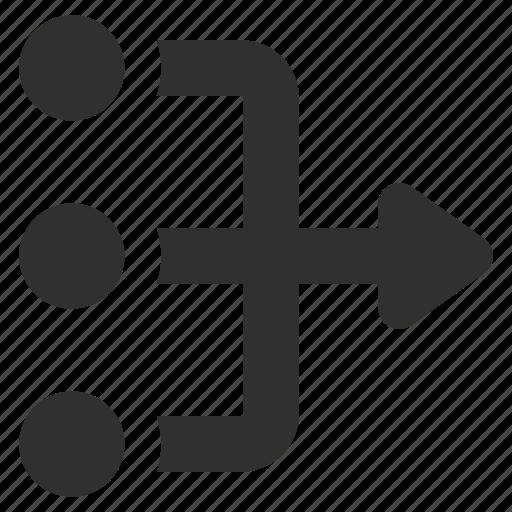 diagram, flowchart, planning, scheme icon