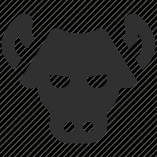 bull, bull head, bull market, bull trend, finance, financial market, market trend icon