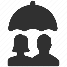 couple, family, family insurance, insurance, personal insurance, protection, umbrella icon