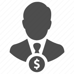 businessman, earnings, employee, finance, income, manager, money icon