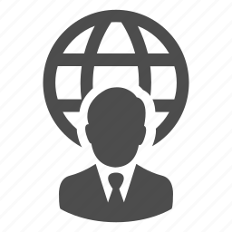 business, businessman, global, man, person, user, web icon