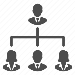 business, hierarchy, management, men, people, users, women icon