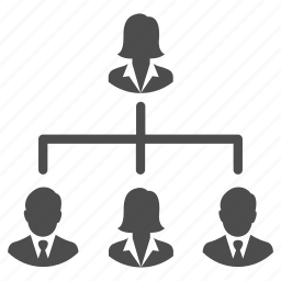 business, group, hierarchy, management, people, team icon