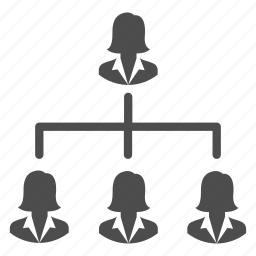 business, group, hierarchy, management, people, users, women icon