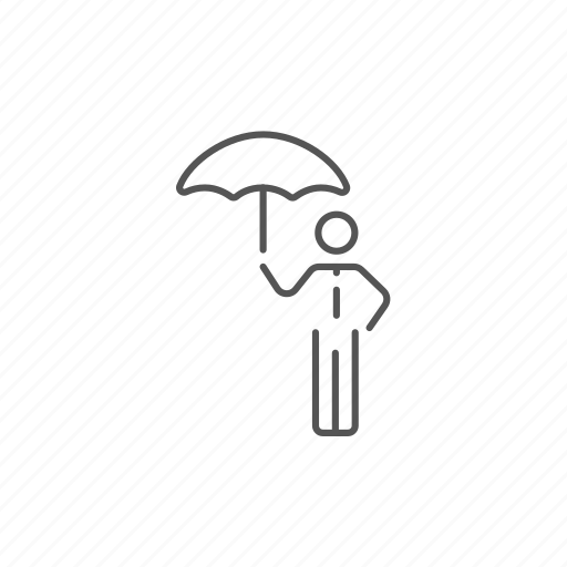 business, man, person, protect, security, suit, umbrella icon